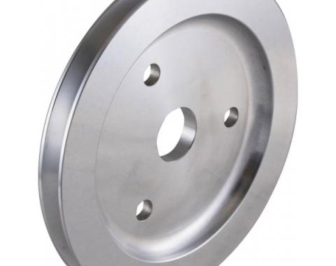 Chevy Small Block Aluminum Crankshaft Pulley, Small Water Pump, 1 Groove