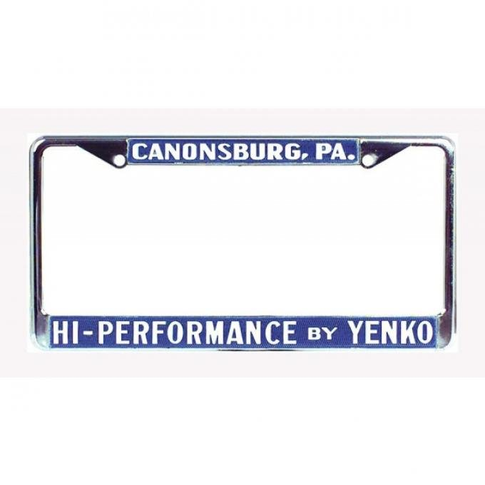 El Camino Yenko License Frame, High Performace By Yenko