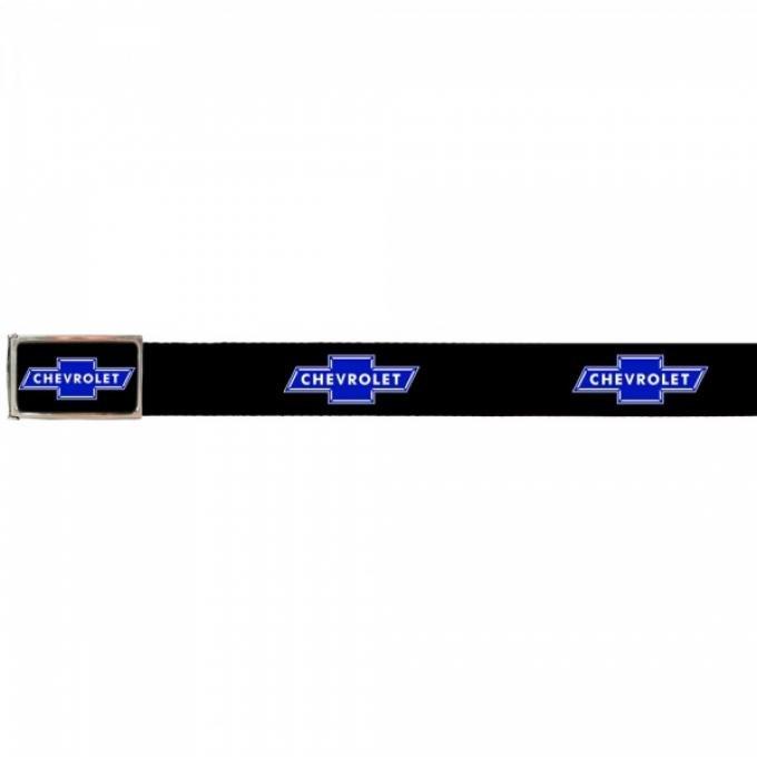 Web Belts, Up to 46'' Waist, Chevy Blue Bowtie Logo, Logo On Belt, With Bottle Opener