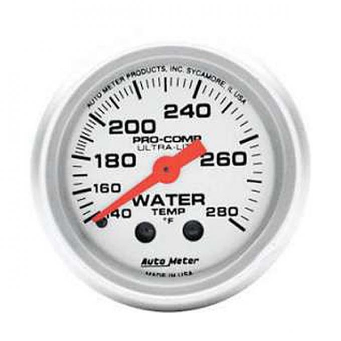El Camino Water Temperature Gauge, Mechanical, Ultra-Lite Series, AutoMeter, 1959-1987
