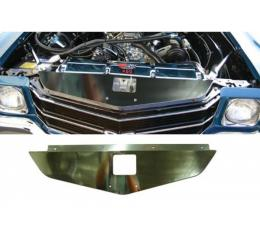 Chevelle Core Support Filler Panel, Polished Aluminum, 1970-1972