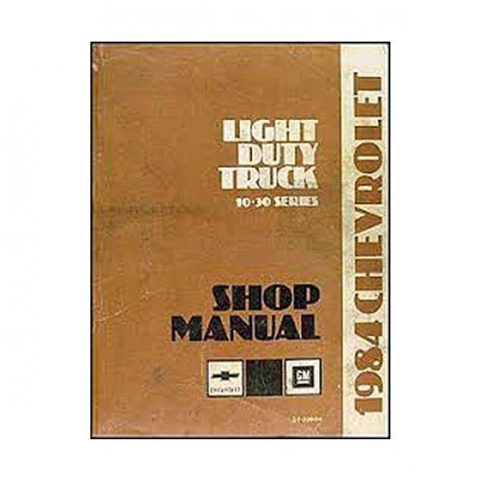El Camino Shop Manual, 1984