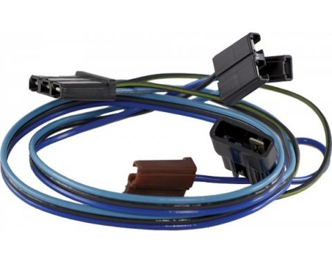 Chevelle Windshield Wiper Motor Wiring Harness, 2-Speed, With Washer, 1964