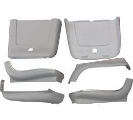 Chevelle Seat Back & Side Panel Set, Bucket, 2-Door Coupe &Convertible, Parchment, 1969