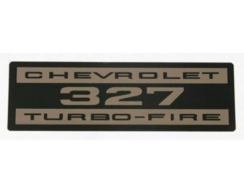 El Camino Valve Cover Decal, 327 Turbo-Fire, 1964-1968