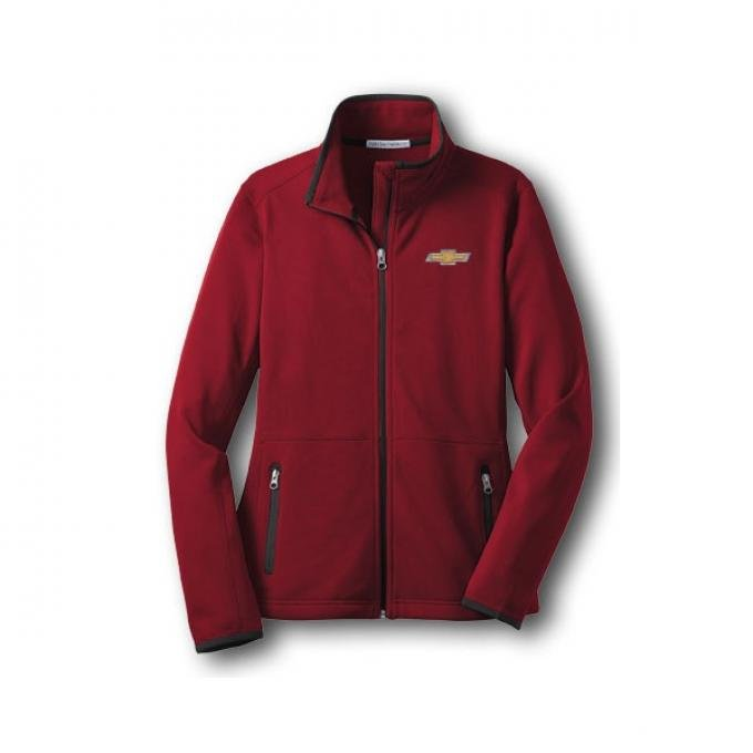 Chevy Jacket, Ladies, Zippered Pique Fleece, Red