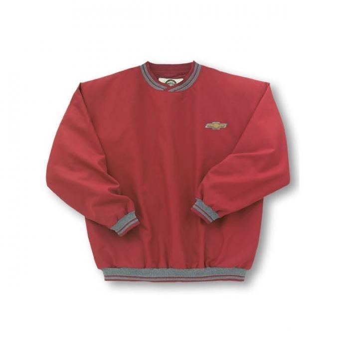 Chevy Jacket, Microfiber Windbreaker Striped, Red