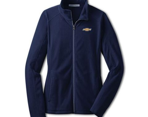 Chevy Jacket, Ladies, Full Zip Lightweight Microfleece , Navy