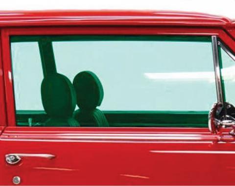 Chevelle Door Glass, 2-Door Coupe, Right Hand, 1965