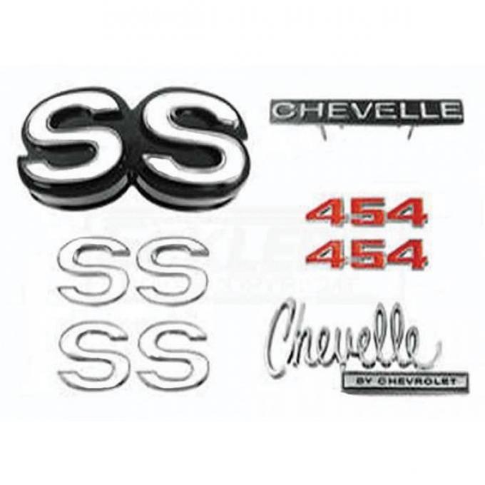 Chevelle Emblem Kit, Super Sport 454, 1970