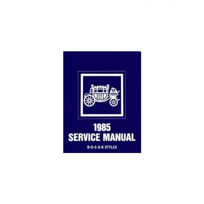 El Camino Body By Fisher Service Manual, 1985