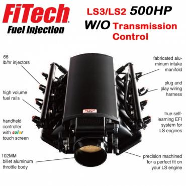 Ultimate LS Fuel Injection Kit for LS3/L92 - 500HP w/o Trans. Control | FiTech - 70011