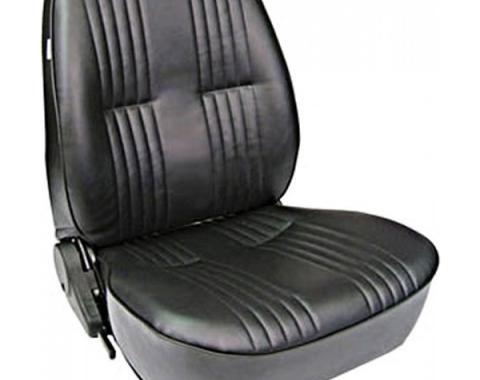 Chevelle & Malibu Bucket Seat, Pro 90, Without Headrest, Left, 1964-1983
