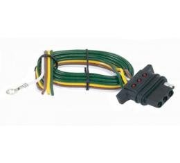 Chevelle Vehicle Wiring Connector, 4-Flat With LED, 1964-1983