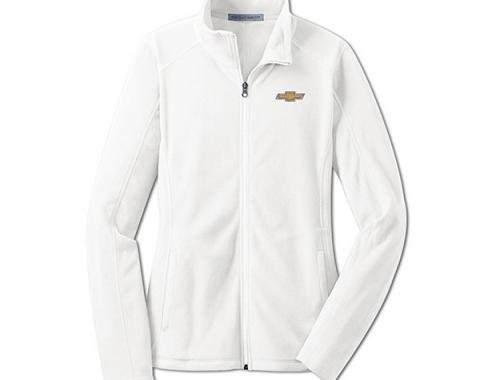 Chevy Jacket, Ladies, Full Zip Lightweight Microfleece , White