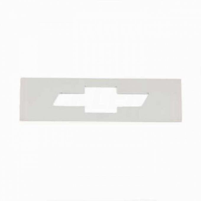 Chevelle And Malibu Side Marker Light Inserts, Stainless Steel With Bowtie, Front, 1969