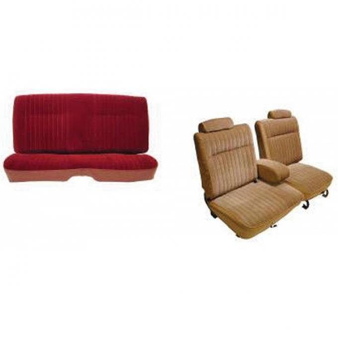 Malibu Seat Covers, Front Straight Bench, With 55/45 Split Bench, Coupe Or Sedan, 1981-1982