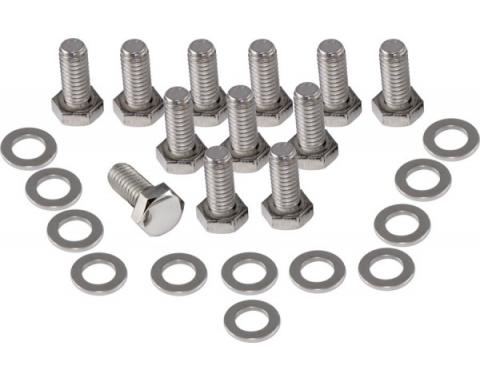 El Camino Polished Stainless Engine Bolt Kits Rear Cover 12 Bolt, 1959-1987