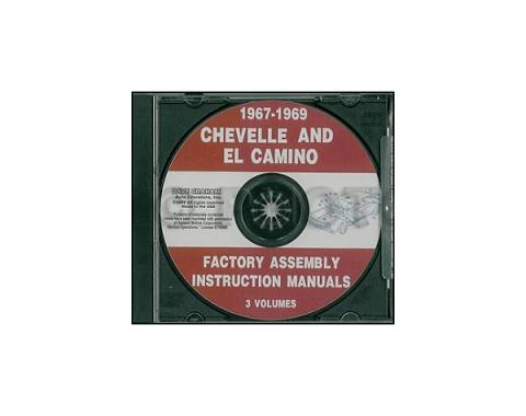 El Camino Factory Assembly Manual, PDF CD-ROM, 1967-1969