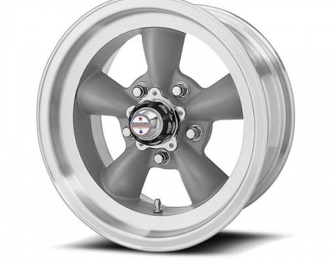 American Racing Torq-Thrust D Gray Wheel W/ Machine Lip, 15X7