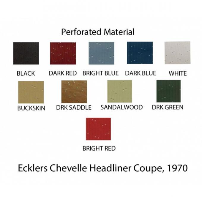 Chevelle  Headliner, Standard Kit, 2-Door Coupe, 1970-1972