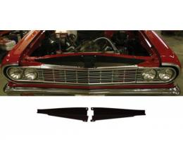 Chevelle Core Support Filler Panel, Black Anodized, 1964