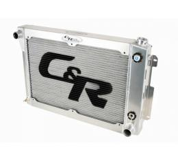 Chevelle And Malibu C&R Racing 26'' Core 2-Pass Crossflow Radiator, For LS Engines, With 10 Plate Engine Oil Cooler And Power Steering Cooler, For Standard Transmission, 1968-1977