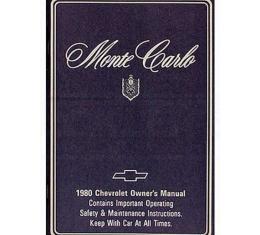 Malibu Owners Manual, 1980