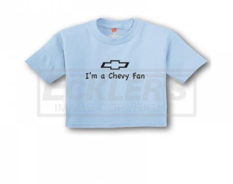 "Light Blue ""I'm A Chevy Fan"" Infant Tee"