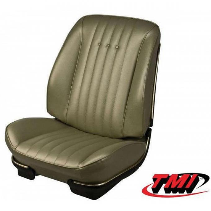 Chevelle TMI Sport Bucket Seat Covers & Foam, Coupe Or Convertible, 1968