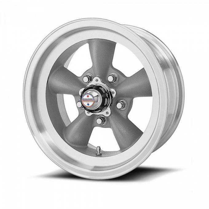 American Racing Torq-Thrust D Gray Wheel W/ Machine Lip, 15X7