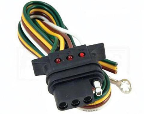 El Camino Vehicle Towing Wiring Connector, 4-Flat With LED,1959-1987