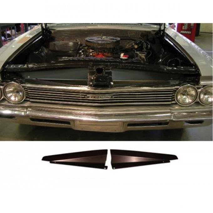 Chevelle Core Support Filler Panel, Black Anodized, 1966