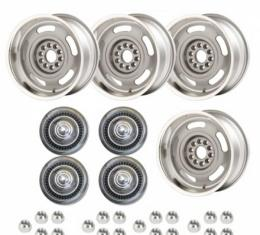 Nova -Rally Wheel Kit, 1-Piece Cast Aluminum With Short Derby Caps, Staggered 17x8 And 17x9