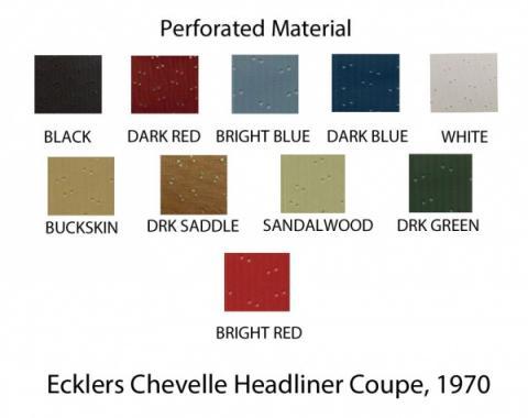 PUI 1970-1972 Chevrolet Chevelle Headliner, 2 Door Hardtop 70AH1B
