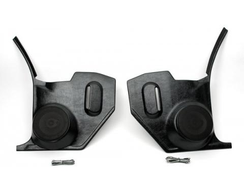 Custom Autosound El CaminoKick Panels with 80 Watt Speakers, For Cars Without Air Conditioning, 1968-1972