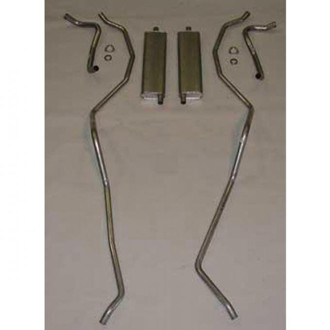 El Camino Exhaust Systems, Complete, 8 Cyl, 283 Dual Exhaust Aluminum, Includes Left & Right, 1959-1960