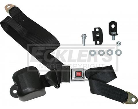 Seatbelt Solutions 1964-1975 El Camino Seat and Shoulder 3 Point Retractable Kit, Plastic Push Button, Bucket