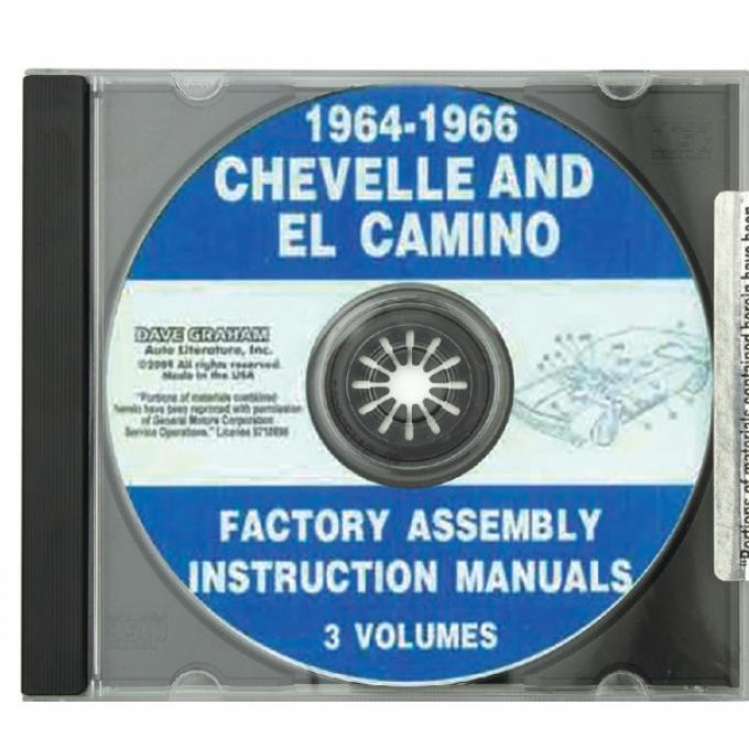 Chevelle Factory Assembly Manual, PDF CD-ROM, 1964-1966