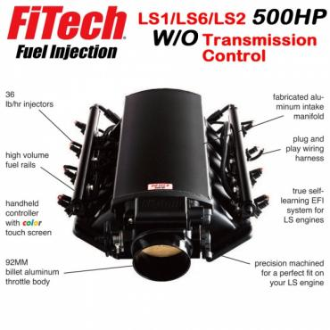 Ultimate LS Fuel Injection Kit for LS1/LS2/LS6 - 500HP w/o Trans. Control | FiTech - 70001