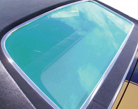 Chevelle Back Glass, 2-Door Coupe & 4-Door Sports Sedan, Curved, 1968-1972