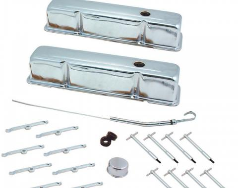 Early Chevy 49-54 - Engine Dress Up Kit, Small Block Conversion, Tall Valve Covers, 1949-1954