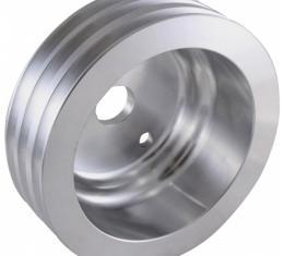 Chevy Small Block Aluminum Crankshaft Pulley, Long Water Pump, 3 Groove
