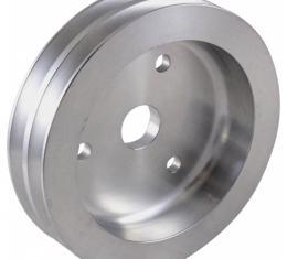Chevy Big Block Aluminum Crankshaft Pulley, Small Water Pump, 2 Groove