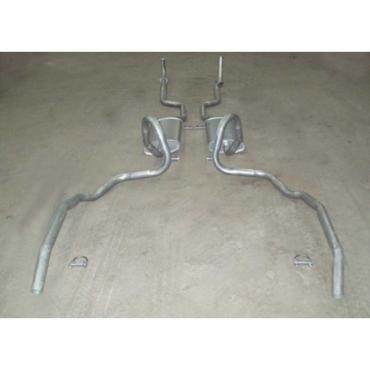 Chevelle - Dual Exhaust System, Small Block, Exccept Station Wagon, 1973-1974