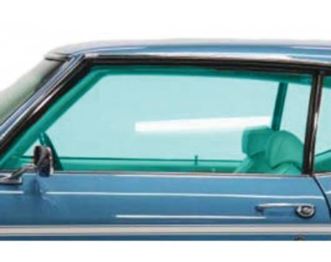 Chevelle Door Glass, 2-Door Coupe & Convertible, Left Hand,1969