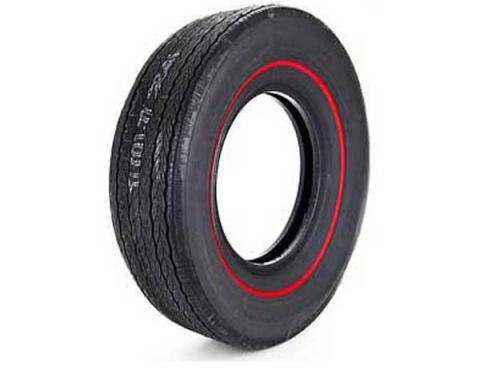 Chevelle Tire, Firestone Wide Oval, G70X14, Redline, All Years