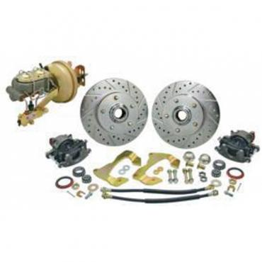 Chevelle Front Disc Brake Kit, With Booster & Stock Height Spindles, 1968-1972