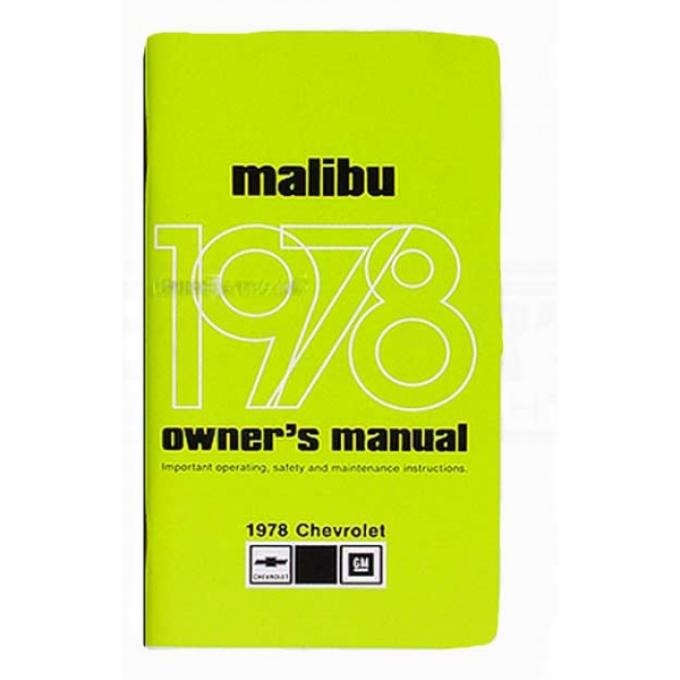 Malibu Owners Manual, 1978
