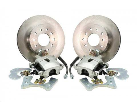 Rear Disc Brake Conversion Kit, For Cars With Staggered Shocks And C-Clip Rear End, 1970-1977